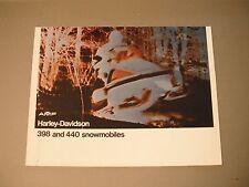 Vintage AMF Harley-Davidson Snowmobile Brochure