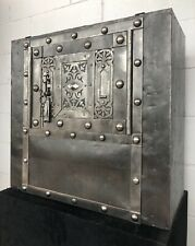 Late 18th Century Italian Antique Safe, studded safe, strongbox , iron chest