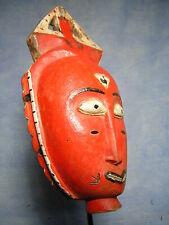 PETIT MASQUE BAOULE ART AFRICAIN ANCIEN STATUE AFRICAINE AFRICAN MASK AFRIQUE