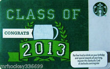 Starbucks Canada CLASS OF 2013 collectible Gift Card (no cash value)