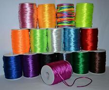 1mm 1,5mm 2mm Rattail Satin Nylon Cord Thread Kumihimo Shamballa BUY 5 GET1 FREE