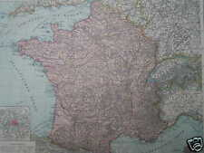 Antique Landkaart kaart  map France Frankrijk  ca. 1880