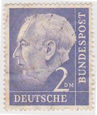 (G480) 1954 GERMAN 2DM lavender press HEUSS ow1121