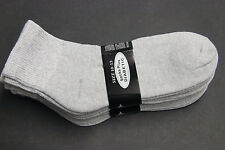 6PAIR Diabetic Men/WOME ANKLE Socks 10-13 gray Cotton(FOR DIABETICS CIRCULATION