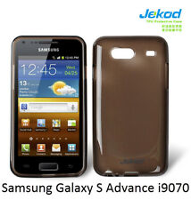 Jekod black TPU gel s. case cover+screen protector for Samsung Galaxy S Advance