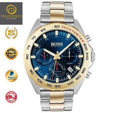 HUGO BOSS® INTENSITY GOLD BLUE SILVER TWO TONE TACHYMETER CHRONOGRAPH HB1513667