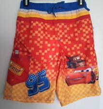 Boys-Size-9-10-Swim-Shorts-Disney-Cars-Lightning-Mcqueen-95-Tow-Mater-Beach-Pool