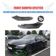 Carbon Front Lip Splitters Bumper Spoiler For BMW 4 Series F32 F33 F36 M-tech