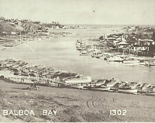 "NEWPORT BEACH Balboa Bay Island Boats VINTAGE Photo Print 1477 11"" x 14"""