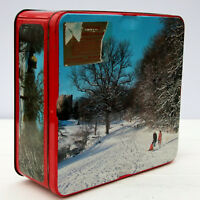 Vintage Retro Nabisco Large Assorted Biscuits Tin Christmas Snow