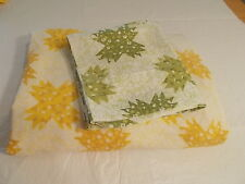 VTG Full/ Double Fitted Sheet and 1 Queen Pillow Case  Quilt print Set