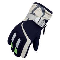 Kinder Winter Warm Ski Snowboard Handschuhe mit Verstellbarer Strap Marine Blau