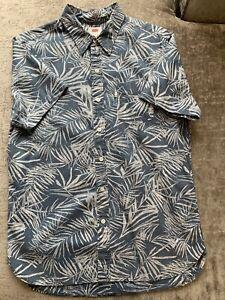 LEVI mens shirt Blue patterned short sleeve