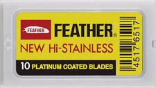 10 Feather hi-stainless platinum razor blades. Sealed orig. packs! USA Seller!