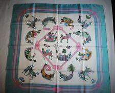 HERMES foulard COLLECTOR  Les Fantaisies du Roy -  Annie Faivre 1986 scarf