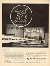 1954 vintage AD UNION OIL of California Research, Union 76 Gasoline 070518
