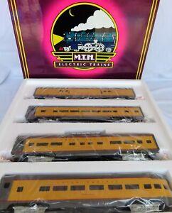 "MTH Union Pacific 4-Car Aluminum Passenger Car Set (MT-6019) ""Painted"" NIB"