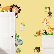 Monkey Animals Removable Wall Decal Stickers Baby Nursery Room Decor Kids