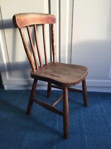 Victorian wooden child's chair, 62cm High