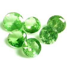 Pretty Green ENGARZADA Granate Natural Gemas sueltas (5 piezas) Redondo (2.4 Mm)