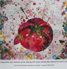 Fiberworks Pattern by Laura Heine ' PINCUSHION'  New Applique Collage Design