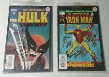 The Incredible Hulk #340 & Iron Man 47  Reprints 2 pack sealed sets 2009