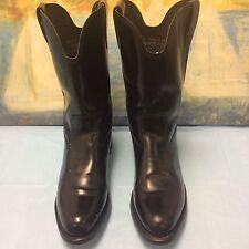 SPORTSMAN'S Western  Black Boots - sz Men's 8.5- American Style