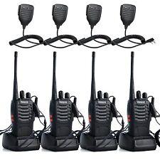 4 X PTT Mic+4X Retevis H777 Walkie Talkie 16CH UHF 5W Two Way Radio 1500mAh US