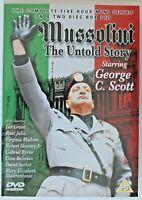 DVD R0 - Mussolini The Untold Story - George C. Scott - Mini Series - Preowned