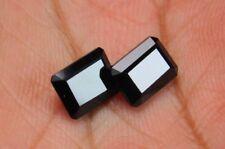 4 Pcs Lot - AAA+ Beautiful Top Quality Emerald Cut Black Spinel Gemstones 6x8mm