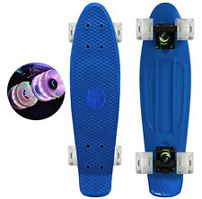 "Aqua Blue / Led Light Wheels - 22"" Penny Style SkateBoard - New Collect Now !"