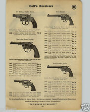 """1914 PAPER AD Colt's Revolver Army Special New Police Positive Iver Johnson 2"""""""