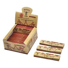 1 Box Hornet Hemp Unrefined Tobacco Hemp Rolling Paper with Filter Tips -  BROWN