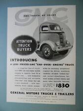 1937 GMC CAB-OVER-ENGINE TRUCK MODEL TRUCKS SALES ART AD