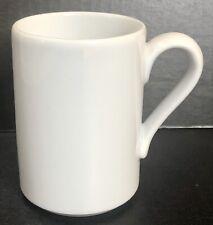 Dansk Bisserup White Mug 4 in tall x 2.75 in diameter 10 oz, Made in Portugal