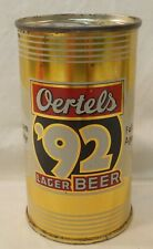 Oertels 92 Lager Beer Can Flat Top   Oertel's