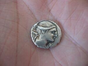 Monnaie Romaine Denier emp VALERIA argent massif 1,8 cm de diamètre 3,8 grs