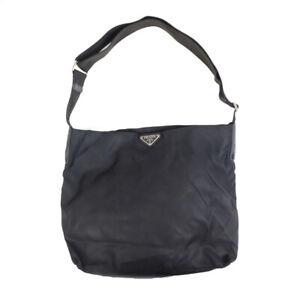 LOUIS VUITTON Nylon Black Shoulder Bag