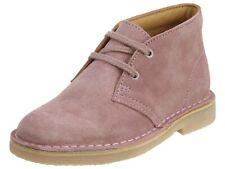 Clarks Kids Desert Boots Junior Suede Pink/Rose Sz 2 1/2 W New in Box