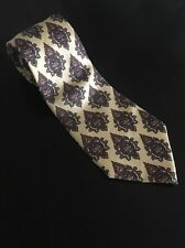 "CHRISTIAN DIOR Monsieur Geometric Print 100% Silk Men's Neck Tie 57"" L 3.5"" W"