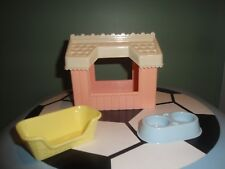 PLAYSKOOL DOLLHOUSE ACCESSORIES FURNITURE - Doghouse, Food/Water Dish, Pet Bed
