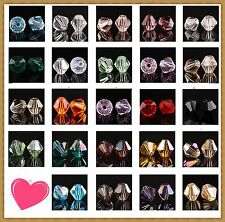 100pcs loose glass crystal bicone spacer beads 4mm Clear Black Rose Blue U pick