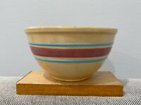 Vintage Watt Oven Ware 7 Stoneware Pottery Striped Kitchen Mixing Nesting Bowl