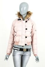 1490$ RARE WOMENS MONCLER BULGARE REAL FUR DOWN JACKET PUFFER SKI COAT SIZE 1/S