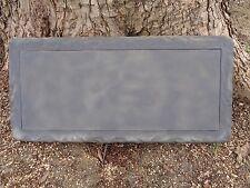 Concrete mold simple plain bench top casting garden mould