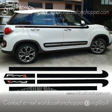 KIT FASCE ADESIVE DECAL STICKERS FASCE SUPERIORI FIAT 500 L AUTO TUNING SPORT