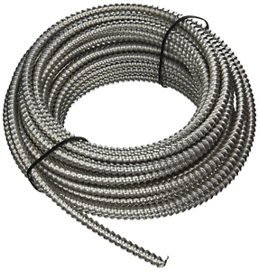 Southwire 68583422 Armolite Solid Metal Clad Cable, 12/3, 50 Ft, 600 V, Copper
