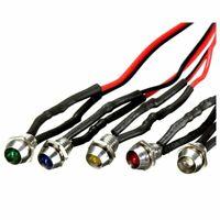 1X(5 x 12V 6mm Car Metal LED Indicator Lights Bulb Pilot Dash Lamp each of  7W2)