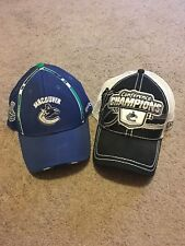 (2) Vancouver Canucks Stanley Cup Finals Hats