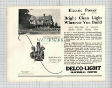 X1759) Delco-Light Delco Advert Frank Winter High Wycombe Architect 1927 Cutting